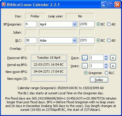 Biblical Calendar.The Biblical Lunar Calendar